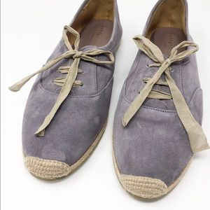 BETTYE MULLER Eve Suede Espadrille lace up flat